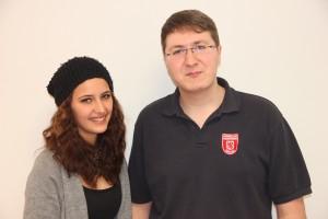 Bezirks-Jugendsprecher Jacquelin Greiner und Sascha Schiegg